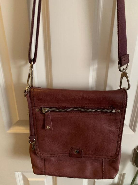Fossil Vintage Leather Messenger Bag