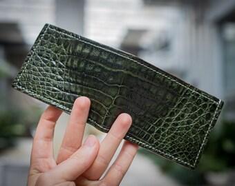 Bifold  Wallet, Caiman (Not Gator), Card Wallet, Cash Wallet, Italian Leather