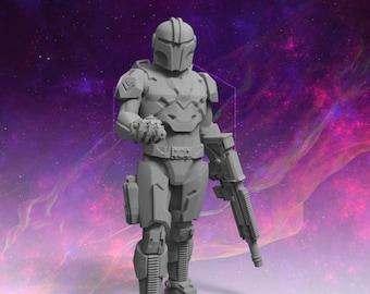 Elliot Bounty Hunter Sci-Fi Wargaming Miniature Starbreach Arvalon Killteam Legion Necromunda Wargaming Terrain Stargrave Starfinder