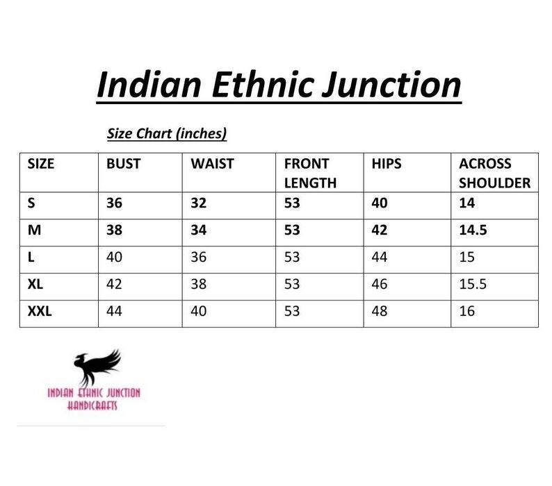 Beautiful Women Grey /& Pink Embroidered Layered A-Line Kurta Ethnic Wear Long Kurti Indian Outfit - Kurti Dress For Girls Women