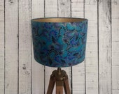 Teal Plume Peacock lampshade by timeless treasures