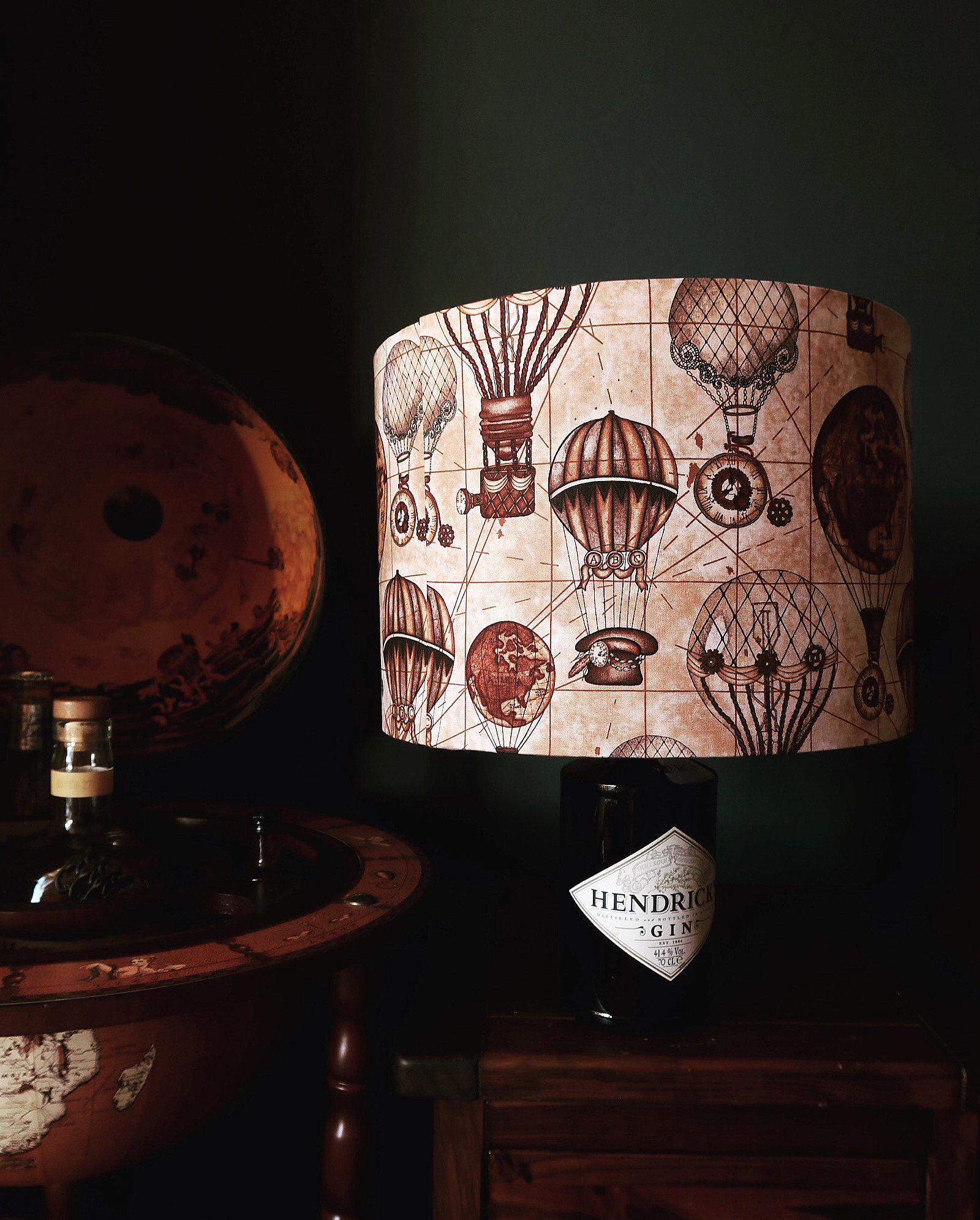 also available in 20cm 30cm wide Steampunk Hot air Balloon Lamp Shade 3 lining options.