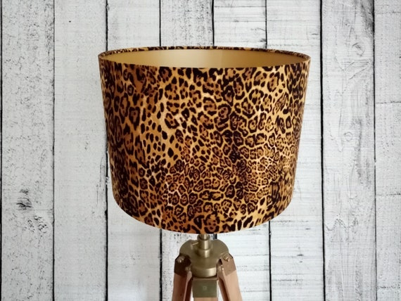 Leopard Print Lamp Shade 30cm Wide Also, Leopard Print Lamp Shade Uk