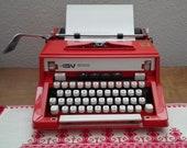 Hermes 3000 Orange Typewriter working, 1970 39 s, Vintage typewriter with case, Manual rare typewriter, QWERTZ - hungarian font