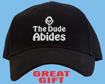 The Dude Abides Baseball Cap Embroidered/ Big Lebowski