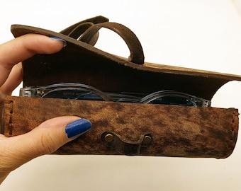 Eyeglass Leather Case