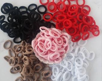 Soft Tiny Nylon Bobbles / Hair Ties - Pack of 5