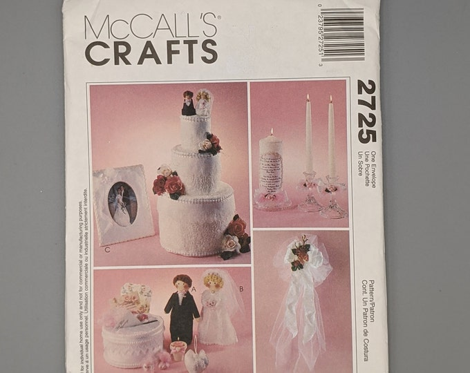 Uncut McCall's Craft Sewing Pattern 2725  for Wedding and Bridal Accessories