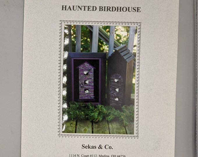 Halloween Counted Cross Stitch Chart for Haunted Birdhouse by Sekas & Company