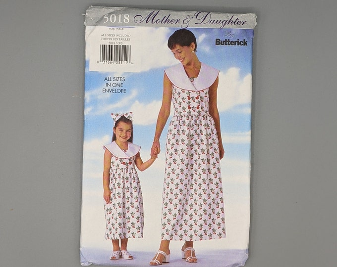 Mother and Daughter Dress - Uncut Butterick  5018 Sewing Pattern