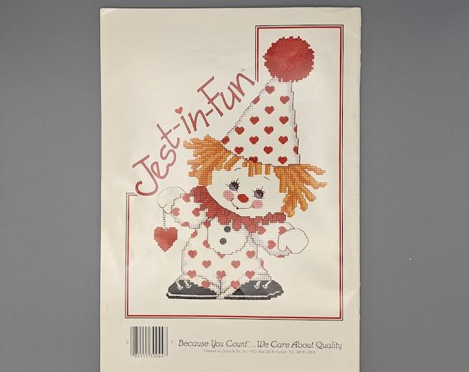 Jest In Fun - Designs by Gloria & Pat - Copyright 1986 - Cross Stitch Clown Designs - Book 44