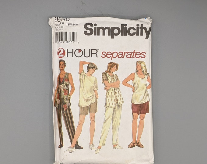Women's Separates  -  Women's Sizes 18W to 24W  -  Uncut Simplicity 9546 2 Hour Separates Sewing Pattern