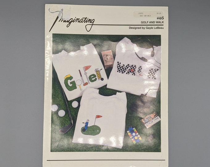 Counted Cross Stitch Chart  -  Golf and Walk by Gayle LeBeau  -  Projects for Golfers