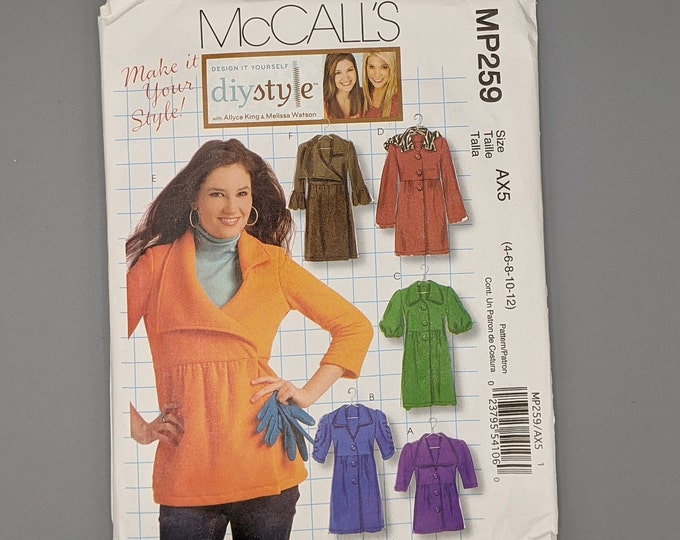 Uncut McCall's MP259 - DIY Style Unlined Jackets and Coats - Misses Sizes 4 thru 12