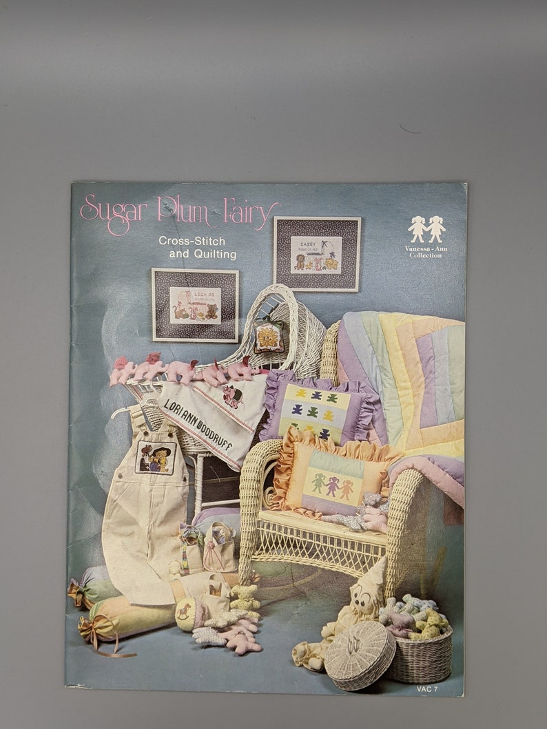 Sugar Plum Fairy Cross-Stitch and Quilting  Vintage 1981 image 0