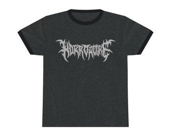 Horrorcore Death Metal Style Logo Unisex Ringer Tee