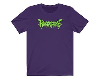 Horrorcore Death Metal Logo NUCLEAR GREEN Unisex Jersey Short Sleeve Tee