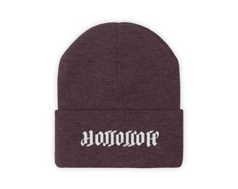 Horrorcore Ambigram Logo Knit Beanie