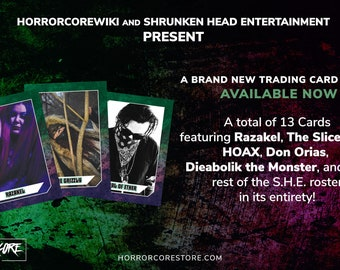 Horrorcore Trading Cards - Shrunken Head Entertainment Series 1