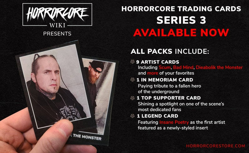 Horrorcore Trading Cards Series 3 image 0