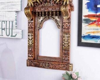 Handmade Mirror Work Decorative Rickshaw Home Decor Exotic Ethnic Traditional