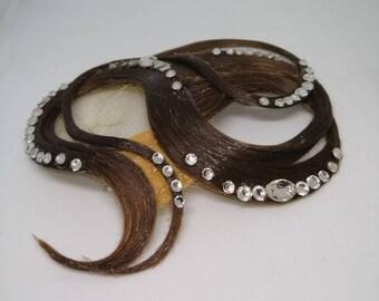 Perfect for Dancers-Skaters-Bridesmaid Updos-Navette Rhinestones Ballroom Hair Swirls-Teal Blue