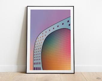 Artprint 'Radiant Gradient   The Market Hall'