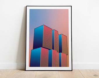 Artprint 'Radiant Gradient   The Rotterdam'