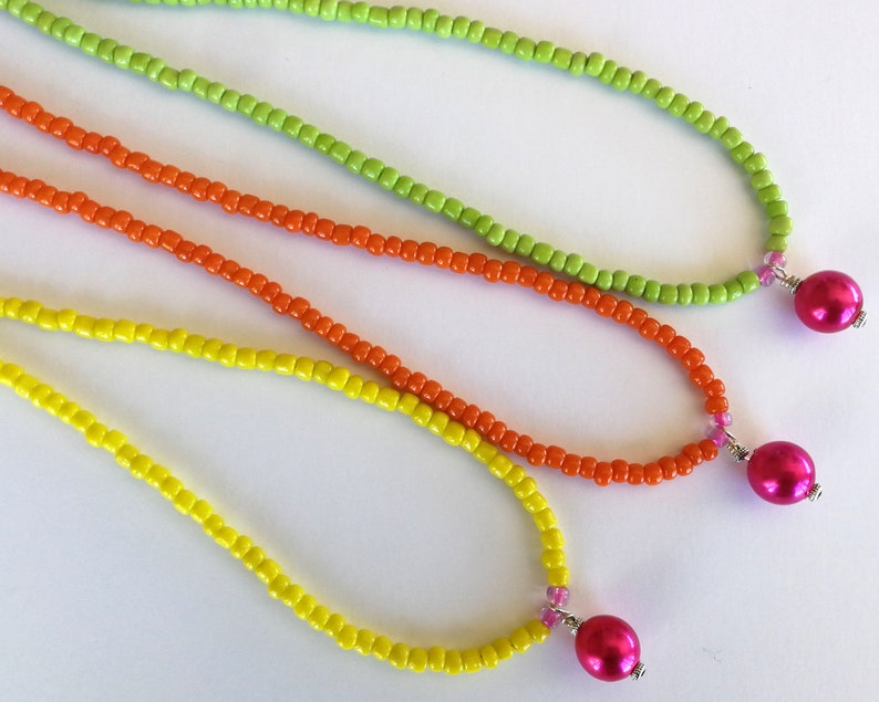 Colourful Seed Bead Necklaces Seed Bead Necklace Pearl Bead Choker Necklace Seed Bead and Pearl Necklaces Seed Bead Chokers Choker