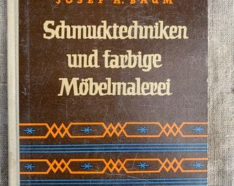 1959 German Vintage DIY Book Furniture Colouring Techniques East Germany GDR  Carpenter Works Furniture Making Repairs Folk Crafts