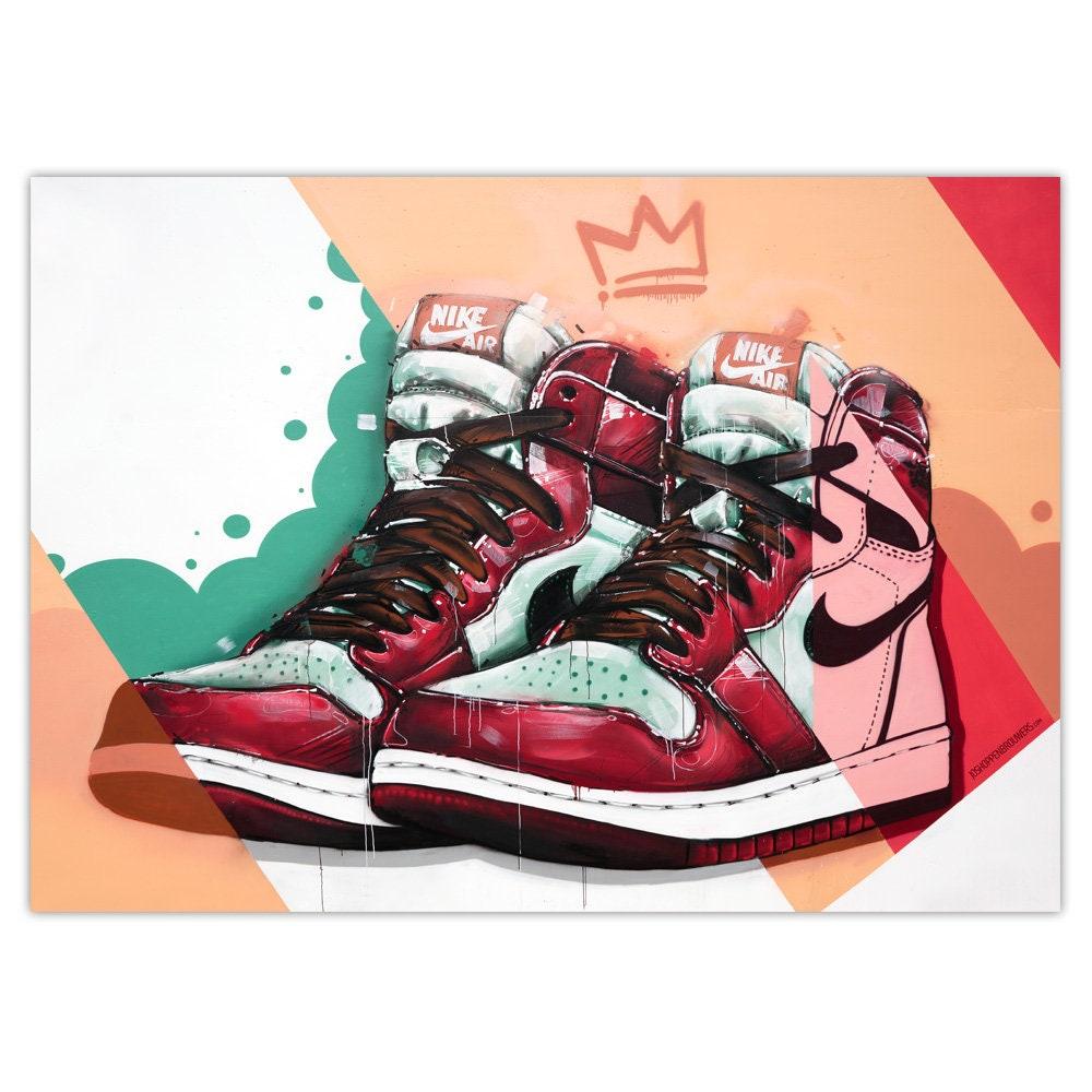 Nike Air Jordan 1 graffiti poster. (50x70cm)