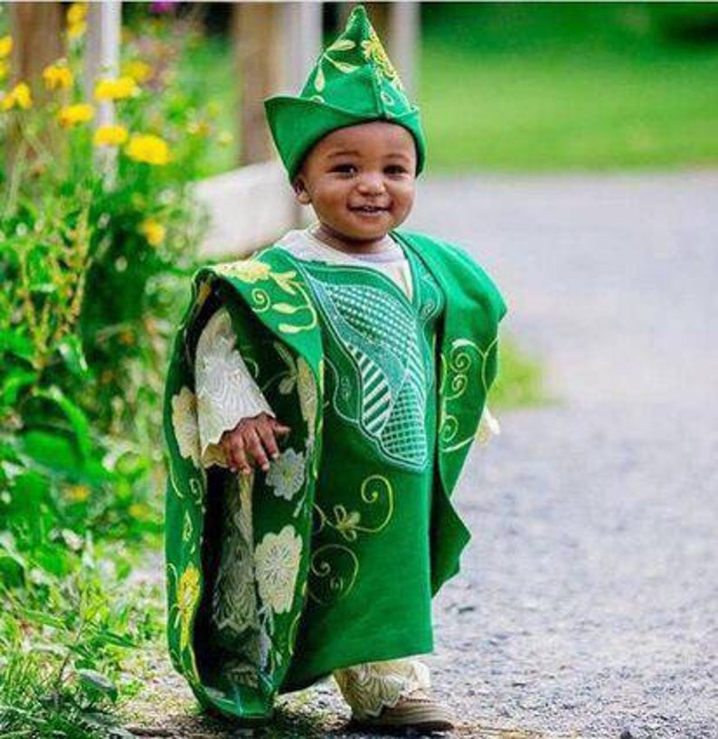 kids Agbada African traditional attire
