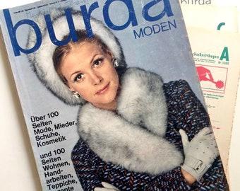 BURDA MODEN Vintage Nähzeitschrift Modezeitschrift Modemagazin mit Schnittmustern  - Oktober 1969