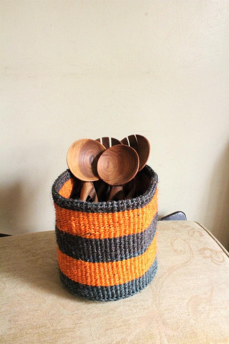 Storage basket-Sisal basket-Kenyan basket-African basket-Woven basket-Kiondo basket-Handwoven basket-African storage basket