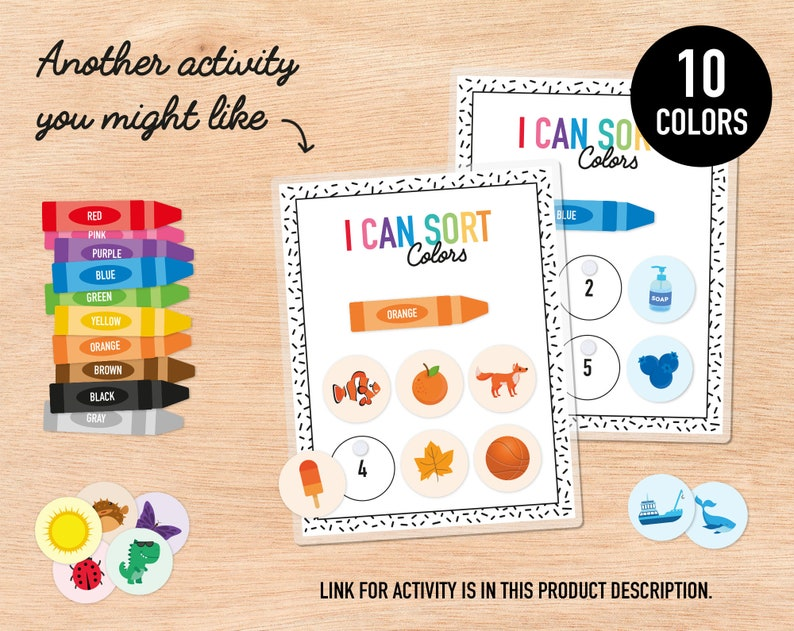 DOWNLOAD NOW Printable Days of the Week /& Months of Year Matching Activities Cute Rainbow Toddler Busy Binder Preschool Learning Resource