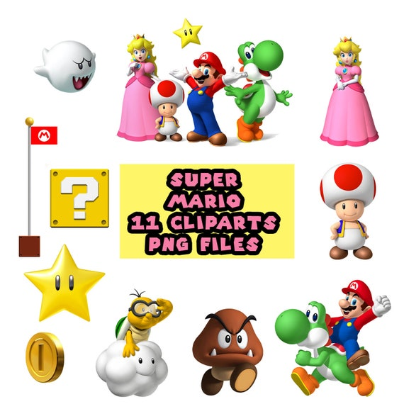 Super Mario 11 Digital Cliparts Etsy