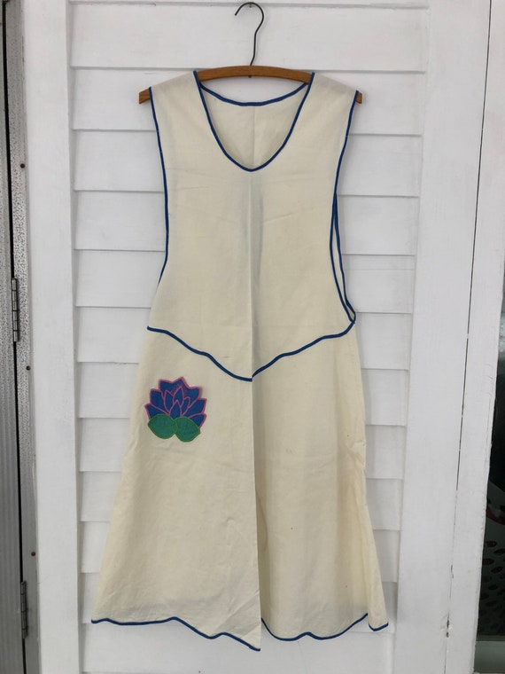 Vintage Lotus Flower Apron