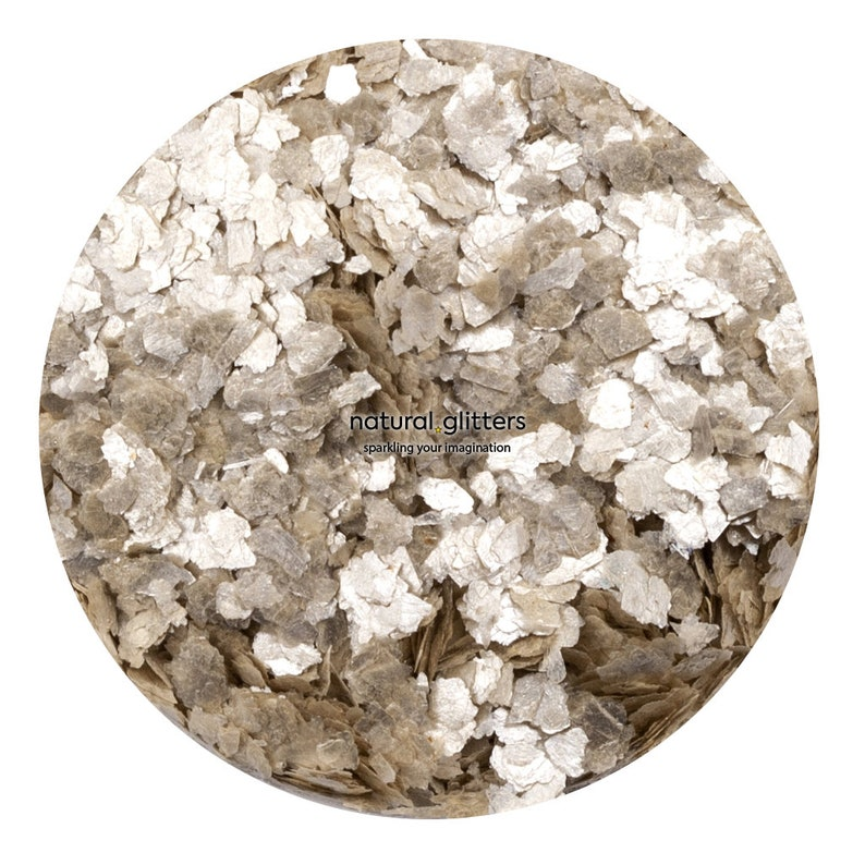 paper etc. resin Pearl Beige Mineral Flakes ideal for craft 15 ml TIN ECO GLITTERS
