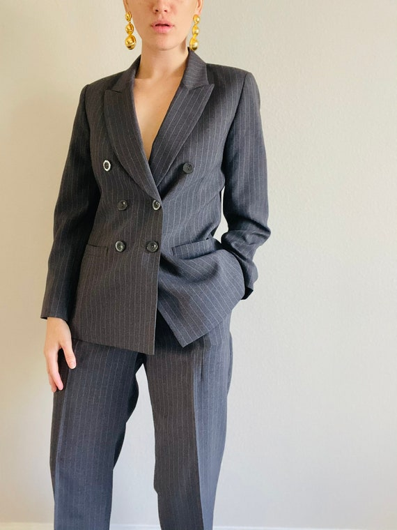 Absolutely Beautiful 1990's Vintage Pin Striped Su