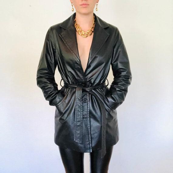Essential  Vintage Leather Blazer Jacket, Vintage