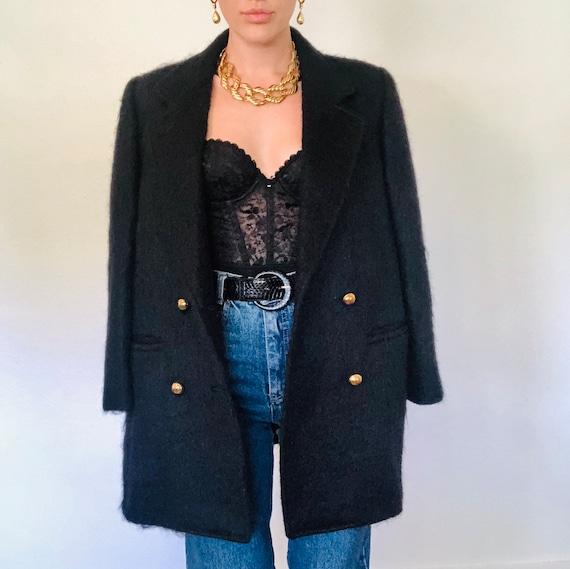 Iconic Vintage Structured Mohair Blazer Jacket, Vi