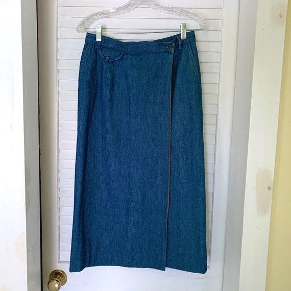 Vintage '70s denim wrap skirt