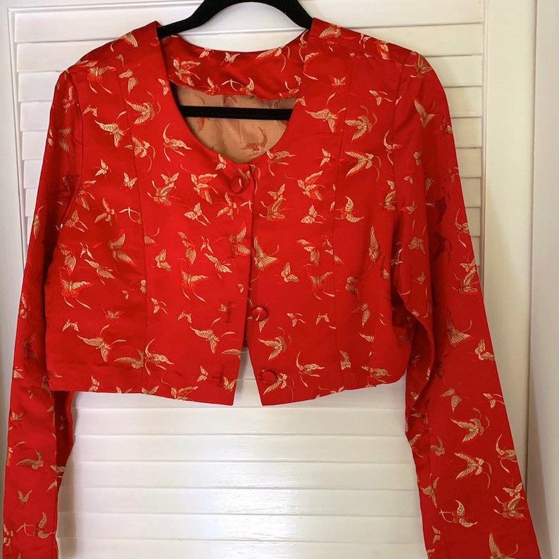 Vintage Asian RedGold Jacket
