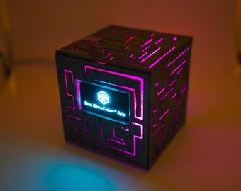 "3D printed & handmade oled 1.3"" USB desktop laptop cpu gpu usage monitor indicator box with RGB lamp light sync, perfect at night"