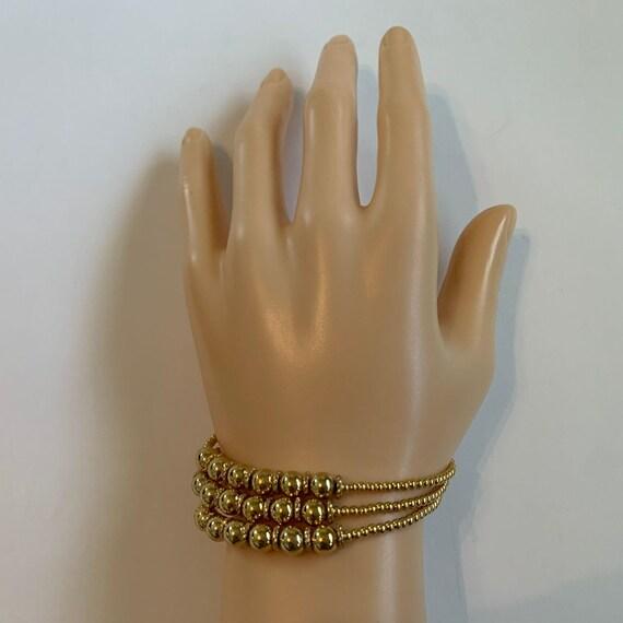 NAPIER Multi Strand Gold Bracelet, Gold Bead Brace