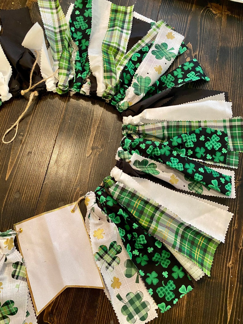 banner for boy clover st Patrick\u2019s day patty\u2019s day birthday banner Lucky One first birthday highchair banner green and black