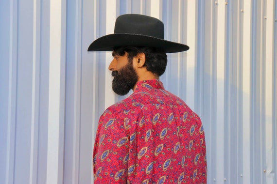 Paisley SILK button up - 1980s to 1990s - Vintage