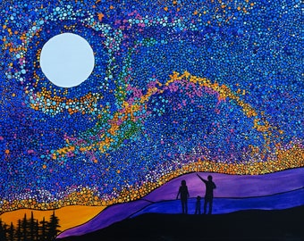 ORIGINAL Paint Pour; Sometimes you feel the cosmos dance COSMIC DANCE It/'s an explosion of your senses which sends you spinning!