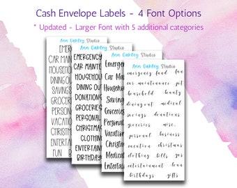 cash envelope labels