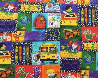 "Premium Kindergarten Kids Preschool Patch Teacher Cotton Fabric 100% Cotton Fabric 18""x21"" Fat Quarter"